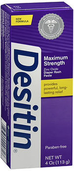 Desitin Maximum Strength Original Paste Tube - 4 oz