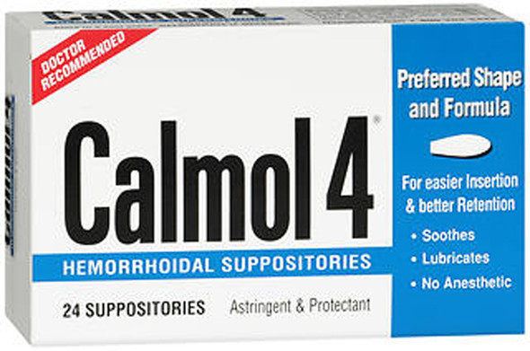 Calmol 4 Hemorrhoid Suppositories - 24 ct