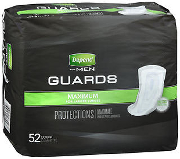 Depend For Men Guards Maximum Absorbency - 2 pks of 52