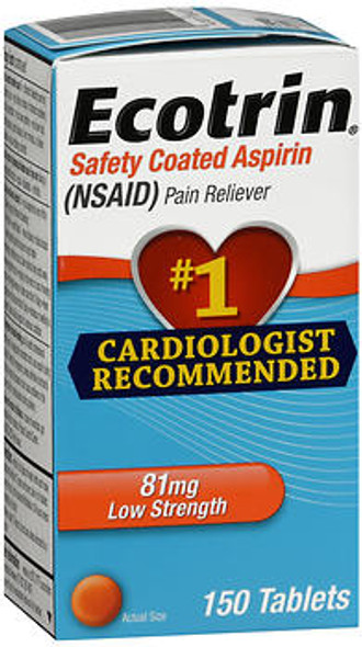 Ecotrin 81 mg Low Strength Safety Coated Aspirin - 150 Tablets