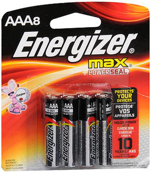 Energizer Max Alkaline AAA Batteries - 8 ct