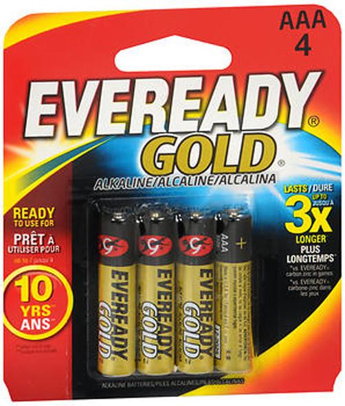 Eveready Gold Alkaline Batteries AAA - 4 ct