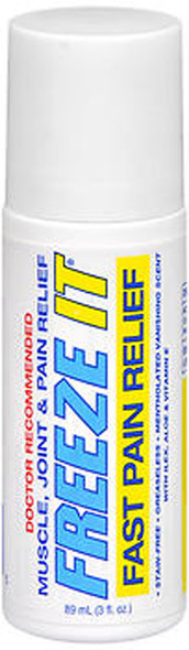 Freeze-It Muscle Joint Pain Relief Roll-On - 3 oz