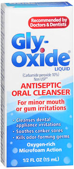 Gly-Oxide Liquid Antiseptic Oral Cleanser - 0.5 oz