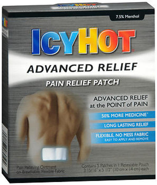 Icy Hot Advanced Relief Pain Patch - 4 ct