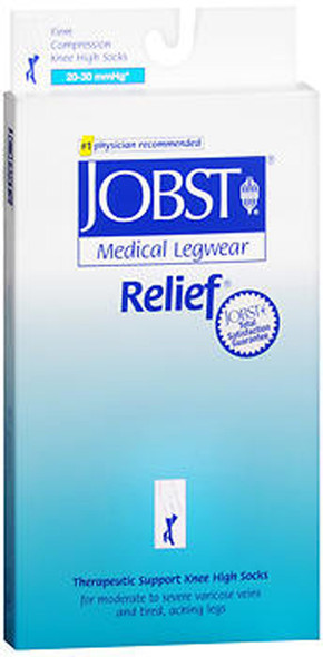 Jobst Medical LegWear Knee High 20-30 mmHg Firm Compression Beige Close-Toe #114620