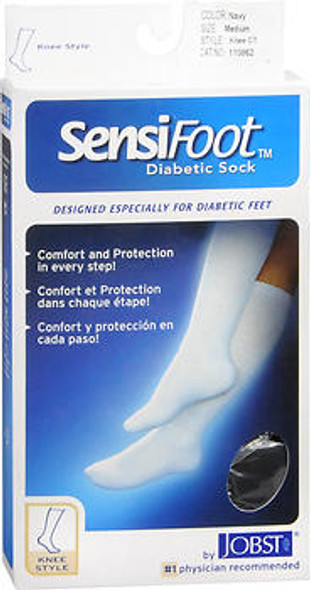 JOBST SensiFoot Diabetic Socks Navy Medium - 1 Pair