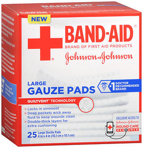 Johnson & Johnson Red Cross Gauze Pads 4x4 in - 25 ct
