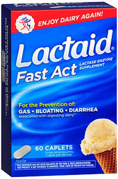Lactaid Fast Act Lactase Enzyme Supplement - 60 Caplets