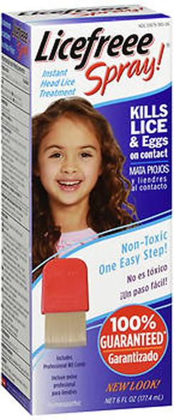 LiceFreee! Spray Instant Head Lice Treatment - 6 oz