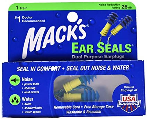 Mack's Ear Seals Dual Purpose Earplugs - 1 Pair