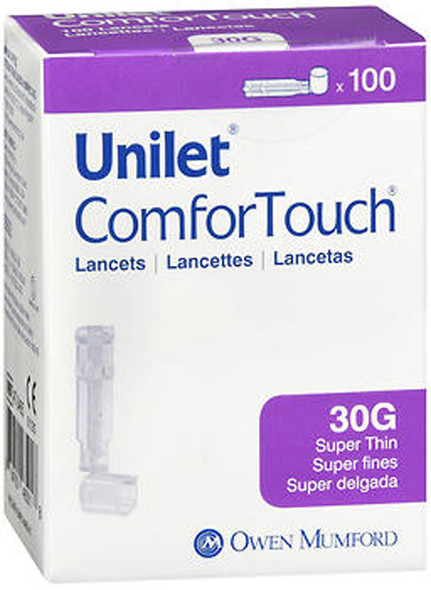 Unilet ComforTouch Super Thin Lancets 30 Gauge - 100 ct