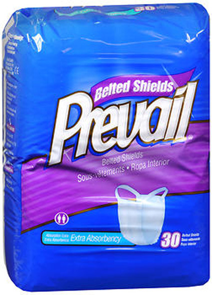 Prevail Extra Absorbency Belted Shields - 4 pks of 30
