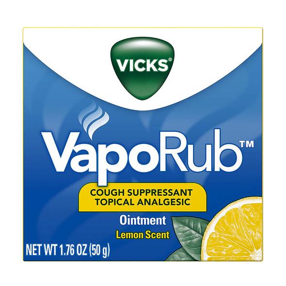 Vicks VapoRub Ointment Lemon Scent - 1.76 oz jar