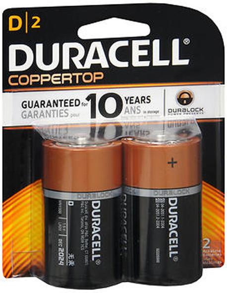 Duracell Coppertop D Alkaline Batteries - 2 pk