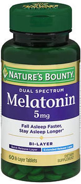 Nature's Bounty Dual Spectrum Melatonin 5 mg Bi-Layer - 60 Tablets