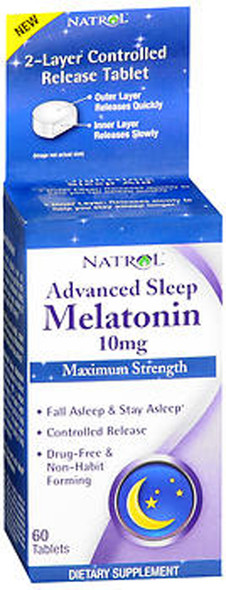 Natrol Advanced Sleep Melatonin 10 mg - 60 Tablets