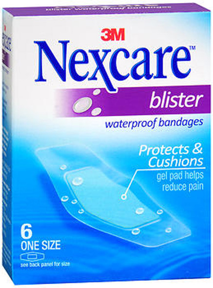Nexcare Waterproof Bandages Blister One Size - 6 ct