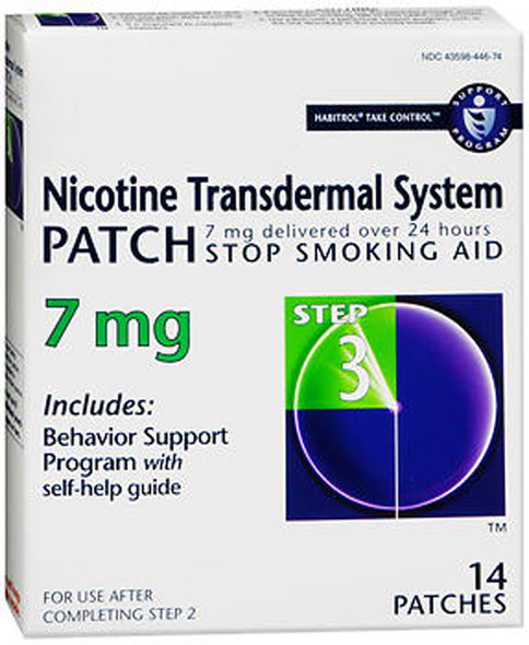 Habitrol Nicotine Transdermal System Patches 7 mg Step 3 - 14 Patches