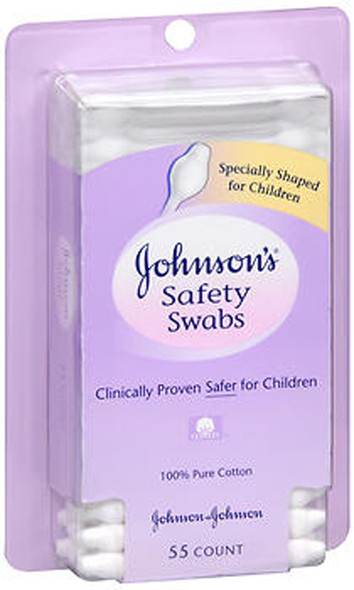 Johnson's Baby Safety Swabs - 55 ct