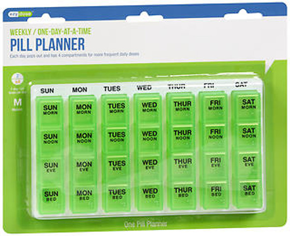 Ezy Dose Weekly / One-Day-At-A-Time Medication Organizer #67124 - 1 ea.