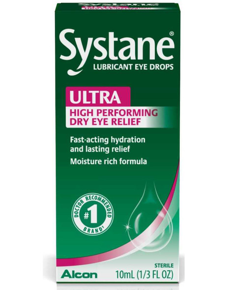 Systane Ultra Lubricant Eye Drops -  0.33 fl oz