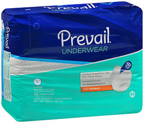 Prevail Extra Underwear Large - 4 pks of 18