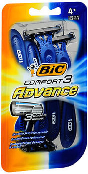 Bic Comfort 3 Advance Shavers for Men - 4 ct