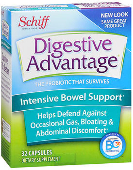 Schiff Digestive Advantage Intensive Bowel Support Capsules - 32 Capsules