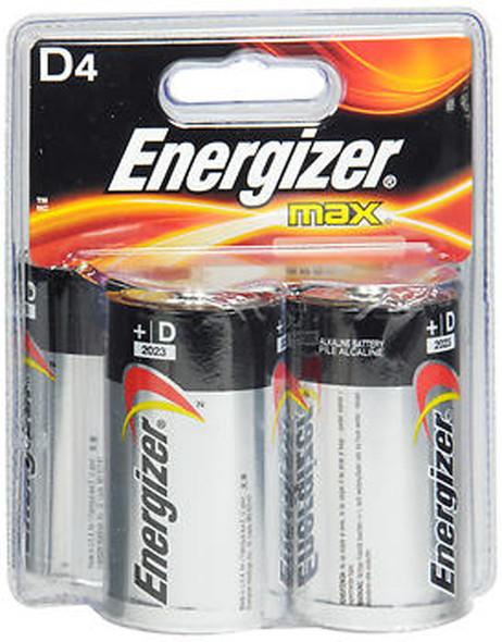 Energizer MAX Alkaline Batteries Size D - 4pk