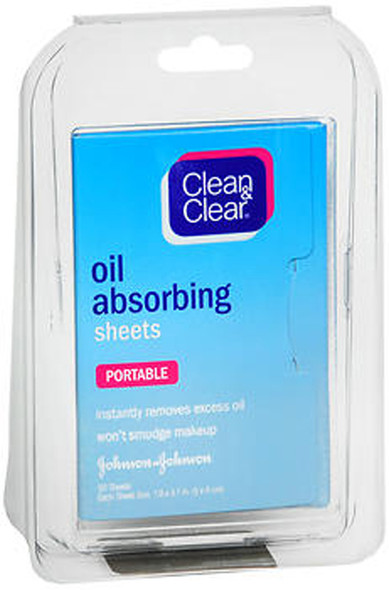 Clean & Clear Oil Absorbing Sheets - 50 Sheets