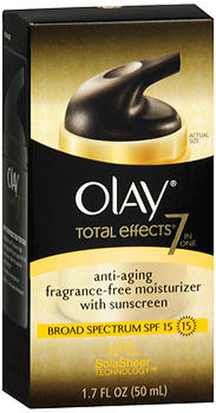 Olay Total Effects 7-in-1 Anti-Aging UV Moisturizer SPF 15 Fragrance-Free - 1.7 fl oz