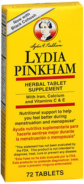 Lydia Pinkham Herbal Tablet Supplement - 72 ct