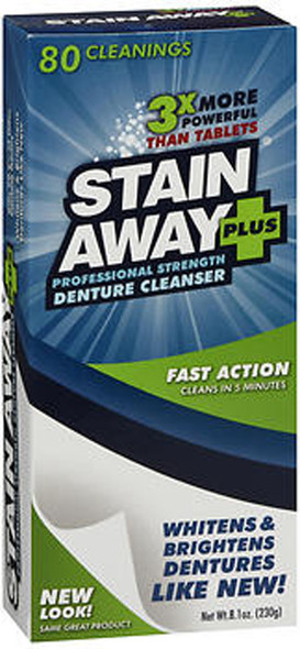 Stain Away Plus Professional Strength Denture Cleanser Powder - 8.1 oz