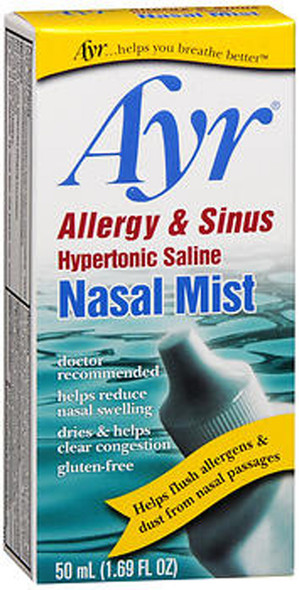 Ayr Allergy & Sinus Hypertonic Saline Nasal Mist - 1.69 fl oz