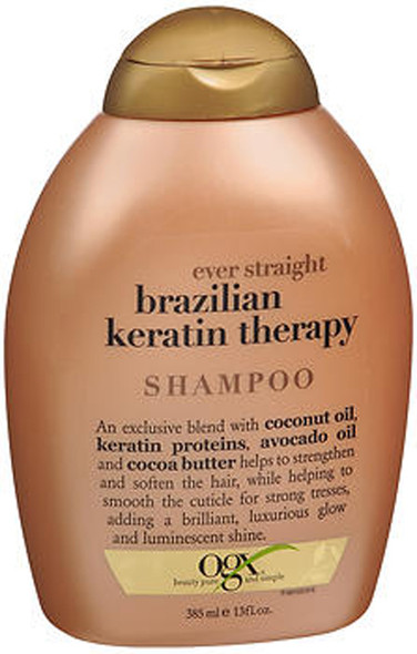 OGX Ever Straight Shampoo Brazilian Keratin Therapy - 13 oz