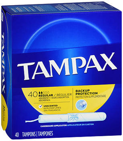 Tampax Flushable Tampons Regular - 40 ea.