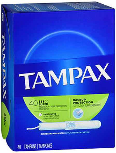 Tampax Flushable Super Tampons - 40 ea.