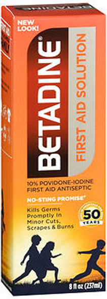 Betadine First Aid Solution - 8 oz