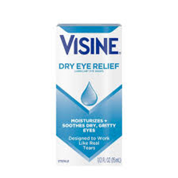 Visine Tears Dry Eye Relief Lubricant Eye Drops - 0.5 oz