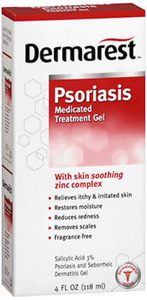 Dermarest Psoriasis Medicated Skin Treatment Gel - 4 oz