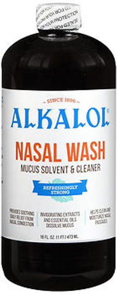 Alkalol Nasal Wash and Mucus Solvent - 16oz