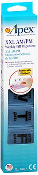 Apex XXL AM/PM Weekly Pill Organizer #70047 - 1 Each
