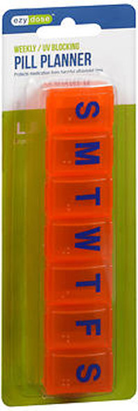 Ezy Dose 7-Day Amber Contour Pill Reminder Large #67790 - 1 Each
