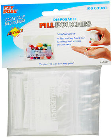 Ezy Dose Pill Pouches #67057 - 100 Each