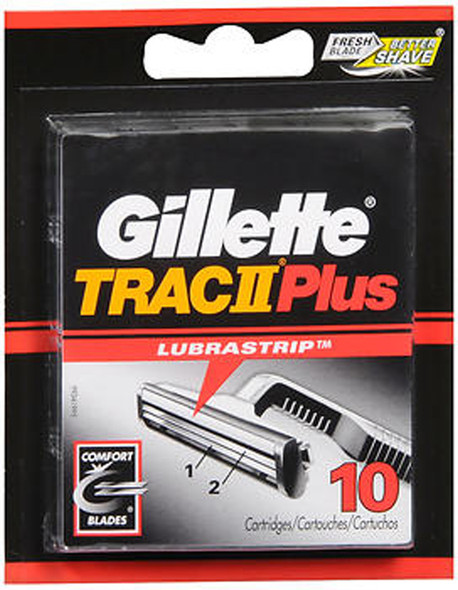 Gillette Trac II Plus Cartridges - 10 ct