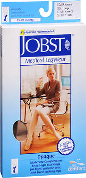 Jobst Medical LegWear Knee High 15-20 mmHg Opaque Large Silky Beige #115214
