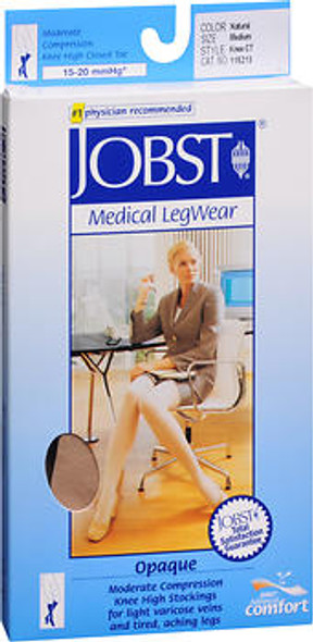 Jobst Medical LegWear Knee High 15-20 mmHg Opaque Silky Beige #115213