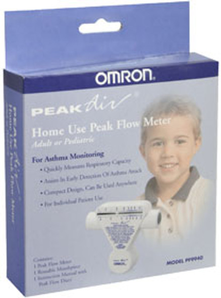 Omron Peak Air Peak Flow Meter Home Use PF9940