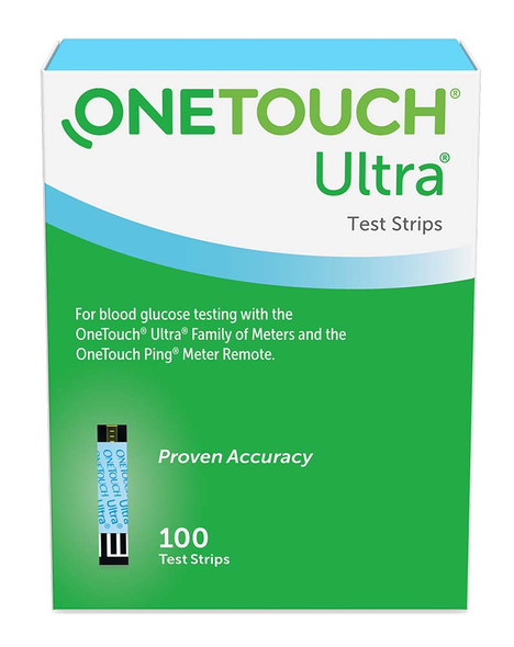 One Touch Ultra, Blue, Test Strips - 100 strips